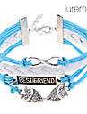 Lureme®Double Owl Infinite Friendship Braided Bracelet