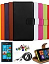 Ultra Slim Solid Color Genuine Leather Case with Film,Cable,dust Plug and Stylus for Nokia Lumia N520(Assorted Colors)
