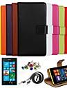 케이스 제품 Nokia 노키아 케이스 지갑 카드 홀더 스탠드 풀 바디 한 색상 하드 인조 가죽 용 Nokia Lumia 520
