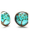 Stud Earrings Costume Jewelry Gemstone Resin Copper Jewelry For Daily Casual Sports