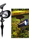 2 LED Solar Power Outdoor Garden Landscape Stake Flood Spotlight