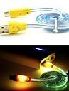 삼성 및 기타 전화 (모듬 색상)에 대한지도와 현재 충전기 마이크로 USB 케이블을 흐르는 미소