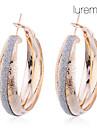 Lureme®Gold Plated Glitter Matte Earrings