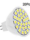 2W 150-200 lm GU5.3 (MR16) LED-spotlampen 30 leds SMD 5050 Warm wit Koel wit DC 12V