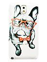 очки шаблон собака тонкое покрытие жесткий футляр для Samsung Galaxy Note 3