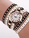 Mulheres Relógio de Moda Bracele Relógio Quartzo PU Banda Preta Branco Branco/Preto