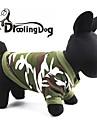 Chat Chien Pulls a capuche Vetements pour Chien camouflage Rouge Vert Coton Costume Pour les animaux domestiques