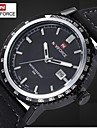 Мужские часы кожаный ремешок кварцевые наручные часы водонепроницаемые мужчин спортивные Военные часы (разных цветов)