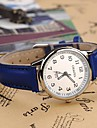 Dames Dress horloge Modieus horloge Kwarts PU Band Zwart Blauw
