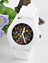 Female Flower Surface Jelly Silicone Watch Circular Fashion Chinese Movement watches(Assorted Colors) Cool Watches Unique Watches