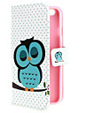 Sleeping Owl Wallet PU Leather Flip Cover With Stand and Card Slot for iPhone 6