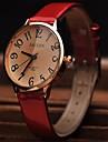 Жен. Модные часы Наручные часы Нарядные часы Кварцевый Кожа Группа Красный