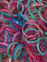 eruner® (300 pcs / paquet) tisser des bandes bande de caoutchouc de style avec crochet et 1pcs la croche de 12pcs