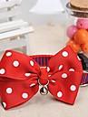 verstelbare meshbelt vlekpatroon rode strik en bel versierd kraag voor honden