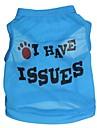 Gatto Cane T-shirt Abbigliamento per cani Lettere & Numeri Blu Costume Per animali domestici