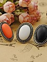 Women\'s Alloy Statement Ring - Circle Vintage Elegant Fashion White Black Orange Ring For Party Daily Casual