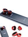 3-Em 1 magnetica 180 ° lente olho de peixe e Grande Angular 0.67X com lente macro para Samsung Mobile Phone