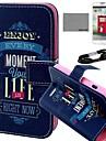 Коко fun® черный голубой лентой шаблон PU кожаный полный корпусу с пленкой и USB-кабель и стилус для LG L70