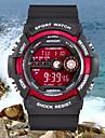 남성 스포츠 시계 손목 시계 LCD 달력 방수 경보 디지털 고무 밴드 블랙