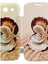 estrela do mar&shell padrão incrustados zircão virar caso folio para i9300 Samsung Galaxy S3