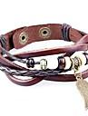 Homme Femme Bracelets en cuir Bracelets Vintage Bracelets Bracelet d'amitié Bracelets de tennis Bracelets de rive Personnalisé Fait à la
