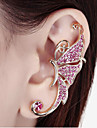 Women\'s Ear Cuffs Costume Jewelry Rhinestone Alloy Animal Shape Butterfly Jewelry For Wedding Party Daily Casual