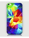 iPhone 4/4S/iPhone 4 - Кейс на заднюю панель - Графика/Особый дизайн/Оригинальный/Геометрический рисунок (Разноцветный , Пластик)