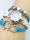 Жен. Модные часы Наручные часы Часы-браслет Кварцевый Кожа Группа Heart Shape Богемные Белый