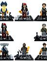 カリブ海ジャックスパロウのminifigures 8本/ロットのビルディングブロックのおもちゃの海賊