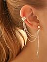 Fashion Tassels Leaf Metal Cuff Bracelet(Gold,Silver)(1 pc)