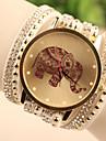 Women\'s Quartz Wrist Watch / Bracelet Watch Imitation Diamond Leather Band Cartoon / Fashion White / Blue / Red / Gold