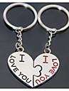 baiser de coeur mariage romantique trousseau de cles pour le jour de valentine amant (une paire)