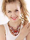 Women\'s Crystal Statement Necklace  -  Luxury Statement Fashion Purple Pink Light Blue Necklace For Party