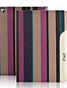 Capinha Para iPad Mini 3/2/1 Com Suporte Hibernacao / Ligar Automatico Capa Protecao Completa Linhas / Ondas PU Leather para iPad Mini