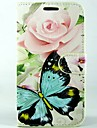 Case For Samsung Galaxy Samsung Galaxy Case Card Holder Wallet with Stand Flip Full Body Cases Butterfly PU Leather for S4