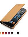 GGMM ® IPhone5/5s를위한 진짜 가죽 폴더 형 풀 바디 케이스 (분류 된 색깔)