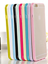 Case For iPhone 6s Plus iPhone 6 Plus iPhone 6s iPhone 6 iPhone 6 iPhone 6 Plus Translucent Back Cover Solid Color Soft TPU for
