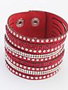 Femme Bracelets - Strass Europeen, Mode Bracelet Rouge / Vert / Bleu Pour Quotidien