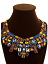 Women\'s Chain Necklaces Statement Necklaces Crystal Geometric Synthetic Gemstones Crystal Alloy Festival/Holiday European Statement
