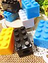 Plastic Building Block Padrão apontador de lápis (cores aleatórias)
