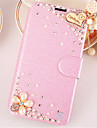 For Samsung Galaxy Case Rhinestone / with Stand / Flip Case Full Body Case Heart PU Leather SamsungA7(2016) / A5(2016) / A3(2016) / A8 /