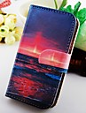 For Samsung Galaxy Case Wallet / Card Holder / with Stand / Flip Case Full Body Case Scenery PU Leather Samsung S2
