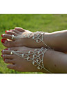 Crystal Anklet Barefoot Sandals - Crystal, Imitation Diamond Unique Design, Bikini, Fashion Silver For Wedding / Party / Daily / Women\'s