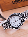 Women\'s Bracelet Watch Fashion Watch Quartz Hot Sale Plastic Band Flower Black