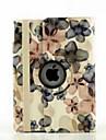 9,7 pouces de 360 degres de rotation motif fleur de pecher avec des cas de support pour iPad air 2 / ipad (6 couleurs assorties)