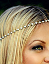 סרט לראש דמוי פנינה / סגסוגת פרח אלגנטית בגדי ריקוד נשים / רצועות ראש / רצועות ראש