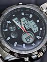 Мужской Спортивные часы электронные часы LED Календарь Секундомер Защита от влаги С двумя часовыми поясами тревога Кварцевый Цифровой