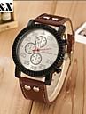 Men's Fashion Big Dial Quartz Analog Leather Band Leisure Wrist Watch(Assorted Colors) Cool Watch Unique Watch