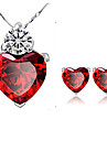 Women\'s Crystal Alloy Party Daily Casual Earrings Necklaces Costume Jewelry