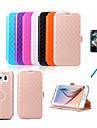 케이스 제품 Samsung Galaxy 삼성 갤럭시 케이스 카드 홀더 스탠드 플립 엠보싱 텍스쳐 전체 바디 케이스 기하학 패턴 PU 가죽 용 S6
